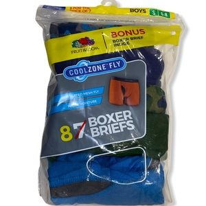 8 Fruit of the loom boys boxer briefs cool zone
